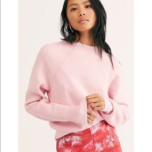 Free People Too Good Mock Neck Sweater Size S